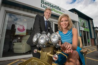 Grant Abrahams, Managing Director of Betterlife, with Rachel Riley