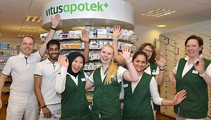 The staff of Vitusapotek Sandvika,